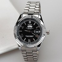 Rolex Classic Luxury Men's and Women's Steel Band Watches