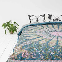 Avani Medallion Quilt in Blue - Urban Outfitters