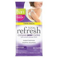 Ban Total Refresh Cooling Restore Body Cloths - 20 Count