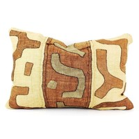 Pre-owned Vintage Kuba Cloth Pillow