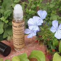 Allergy Sinus Cold Relief Essential Oils Roll On -.35 oz All Natural Aromatherapy Concentrated Formula, Sinus Relief, Headache Relief