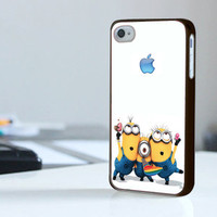 Despicable Me Minion Apple Logo  - Print On Hard Cover - iPhone 4/4S Case and iPhone 5 Case