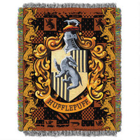 Exclusive Hufflepuff Crest Tapestry Throw |