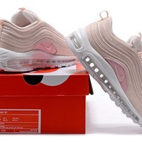 Nike Air Max 97 Women Sport Casual Fashion Snake Pattern Stitching Air Cushion Running Shoes Sneakers