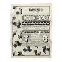 The Push Pin Graphic, Issue 63 (Chicken!, 1975). From Seymour Chwast's personal archive.