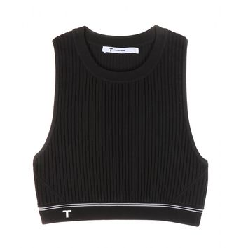 Cropped ribbed top