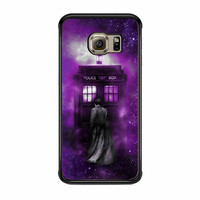 Tardis Tenth Doctor Dr Who In Space Purple Samsung Galaxy S6 Edge Case