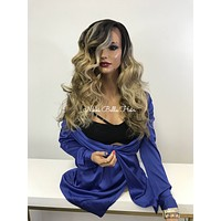 Blonde Balayage Lace Front Wig - Dreaming of the Taj 121749
