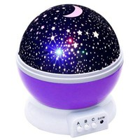 DC 5V Star Light Rotating Projector Lamp for Kids Bedroom