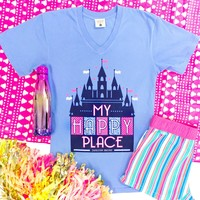 Jadelynn Brooke Happy Place (Periwinkle) - Short Sleeve