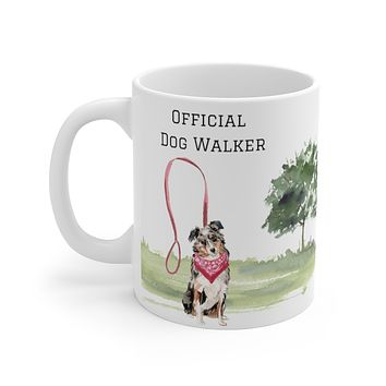 Official Dog Walker Mug — Aussie