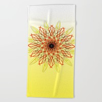SUN Beach Towel by Chrisb Marquez
