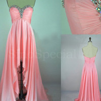 WowDresses — Fascinating Pink A-line Sweetheart Asymmetrical Prom Dress