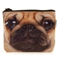 "Pug Zipper Pouch/Coin Purse, 4.5"" X 4"""