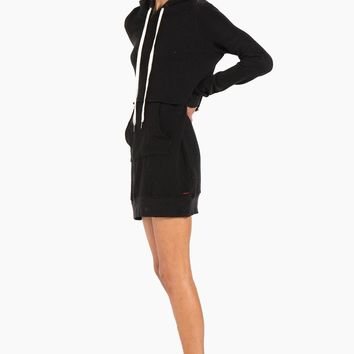 Sammy Hoodie Sweatshirt Mini Dress - Black Cat