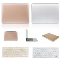 The Latest Metal Color Rose Champagne Gold Silver Sleeves Covers Cases for Macbook air 11 13 pro 13 15 retina 13 15