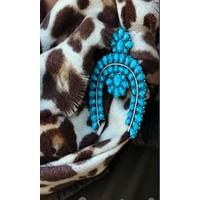 Cowgirl Kim Isabella Squash Blossom Broach Pin~ Turquoise