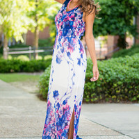 Make You Vine Maxi Dress, Navy