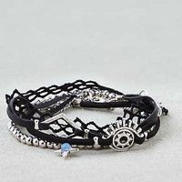 AEO Silver and Black Arm Party , Silver