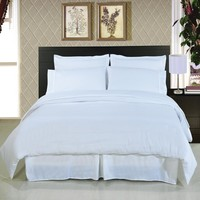 Solid White 8-Piece Bedding Set Super Soft Microfiber Sheets+Duvet+Alternative