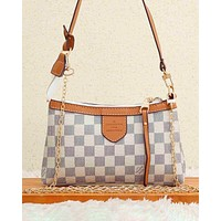 LV  Bag Louis Vuitton Crossbody bag Contrast Edge Bag White Tartan