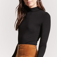 Jersey Knit Mock Neck Top