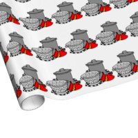 Chef Cooking Pot Gift Wrapping Paper
