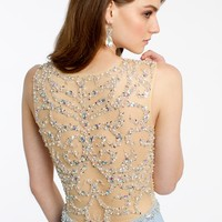 Swirl Beaded Illusion Dress from Camille La Vie and Group USA