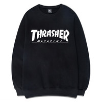 2017 Fashion Mens HipHop Thrasher Hoodie  Hoodies And Sweatshirts Thrasher Autumn/Winter Fleece Sweatshirt Men  Pullover S-XXL