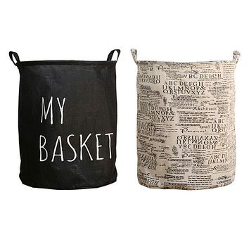 Folding Bin Canvas Laundry Hamper Washing Bag Wash Clothes Basket New Style Toy Organizer Bathroom Accessories