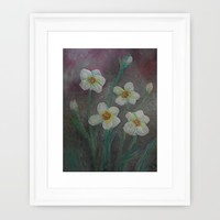 Forget-Me-Never Framed Art Print by RokinRonda | Society6