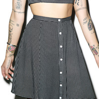 Mink Pink Spot The Difference Skirt Black