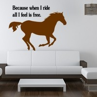 Horse decal-Horse sticker-Quote decal-Quote sticker-Horse wall decal-Kids room decal-23 X 30 inches