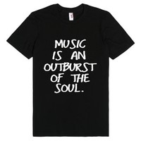 Music Is An Outburst Of The Soul T-shirt (wht