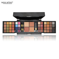 Professional Makeup Set Pro 48 Color Eyeshadow With Blush Compact Powder Palette