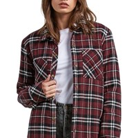 Volcom Plaid About You Plaid Flannel Shaket | Nordstrom