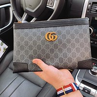 GUCCI Women's Trendy Retro Double G Letter Clutch Bag Wash Bag