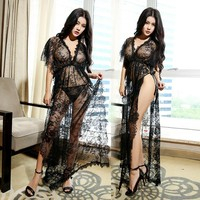 Black Sexy Lace Night Gown
