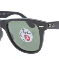 RAY-BAN RB 2140 901/58 Polished Black / Green Polarized 50MM Sunglasses NWC AUTH