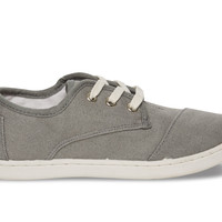 TOMS Ash Canvas Youth Paseos Grey