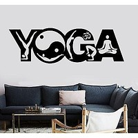 Wall Sticker Buddha Yoga Pose Positions Zen Meditation Om Vinyl Decal Unique Gift (z2913)