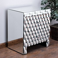 Isadora Mirrored 2-drawer Nightstand Cabinet / Accent Table