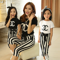 Fashion Family Matching Outfit Mother and Daughter Clothes Family Clothing Mom and Daughter Clothing Family Clothing Sets GS08