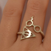 Harry Potter and the Deathly Hallows Eye ring