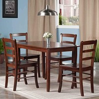 Inglewood 5-PC Set Dining Table w/ 4 Ladderback Chairs