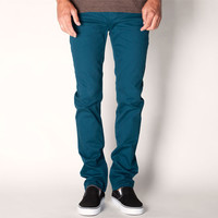 Rsq London Mens Skinny Pants Teal Blue  In Sizes