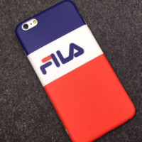 FILA  letter full package of silicone soft shell lovers and men and womenmobile phone shell protection cover for iphone 6/7/8/6plus/7plus/8plus/X
