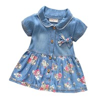 BibiCola Spring Summer Baby Girls Jackets Kids Coats Denim Children Coat Baby Clothing Kids clothes