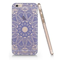 Blue Mandala Pattern Iphone 6 Case, Clear Iphone 6 Hard Cover Case (For Apple Iphone 6 4.7 Inch Screen)-Emerishop