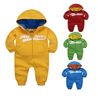 2016 New Baby Boy Girl Clothes Bebes Cotton Autumn Winter Baby Rompers Newborn Long Sleeve Underwear Kids Jumpsuit Boys